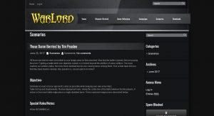 Warlord Army Creator 2.0.1 - Scenarios Page
