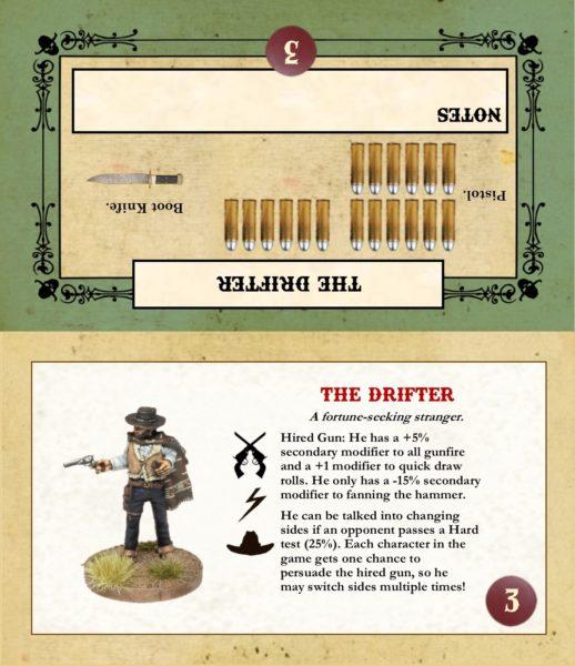 Gunfighter's Ball - The Drifter (Game Card)