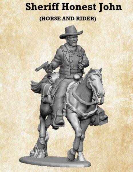 Gunfighter's Ball - Sheriff John Miniature Mounted